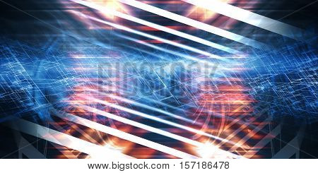 Abstract Colorful Digital Background 3D