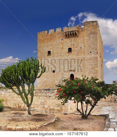 Famous Cyprus medieval castle near Kourion beach