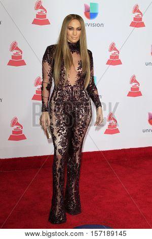 LAS VEGAS - NOV 17:  Jennifer Lopez at the 17th Annual Latin Grammy Awards at T-Mobile Arena on November 17, 2016 in Las Vegas, NV