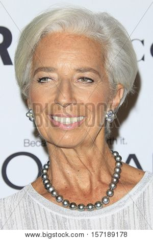 LOS ANGELES - NOV 14:  Christine Lagarde at the Glamour Women Of The Year 2016 at NeueHouse Hollywood on November 14, 2016 in Los Angeles, CA