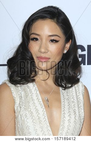 LOS ANGELES - NOV 14:  Constance Wu at the Glamour Women Of The Year 2016 at NeueHouse Hollywood on November 14, 2016 in Los Angeles, CA