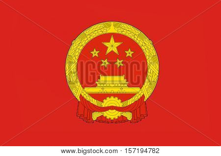 Flag of China officially the People's Republic of China (PRC) is a sovereign and unitary state in Asia