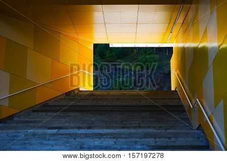 Horizontal upstairs in Oslo city background hd