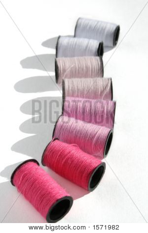 Pink Cotton Reels