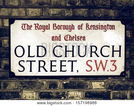 Vintage Looking Street Sign