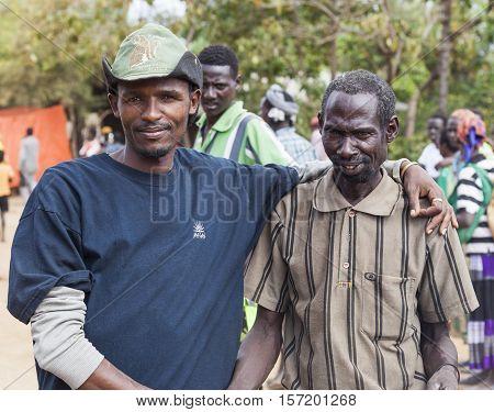 People At Village Market. Bonata. Omo Valley. Ethiopia.