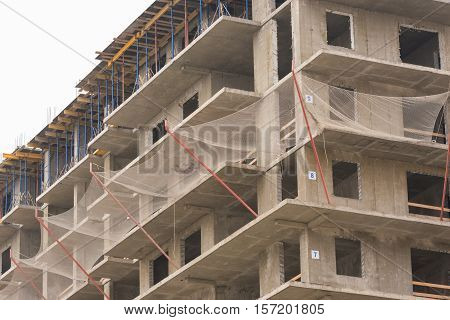 Protective Guard From Falling Objects During The Construction Of Multi-storey Residential Building
