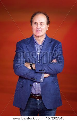 Rome Italy - October 16 2016: Brando Quilici walks a red carpet for 'The Rolling Stone Ole Ole Ole!: A trip Across Latin America' during the 11th Rome Film Festival at Auditorium Parco Della Musica.