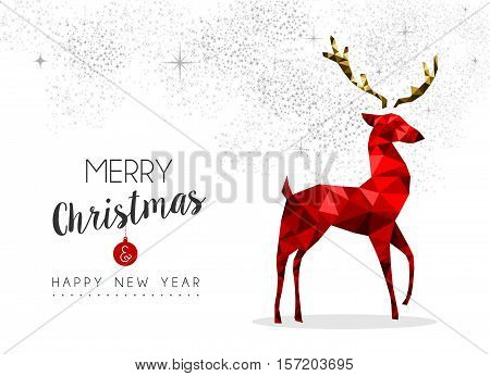 Red Reindeer Decoration For Christmas And New Year