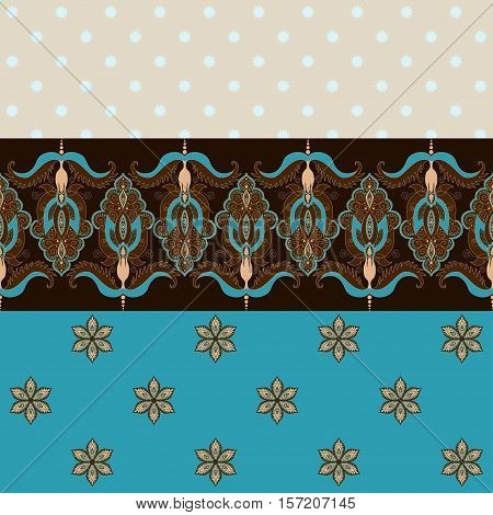Two simple vector background and border. Oriental floral pattern and decorative items. Ample opportunities for use. Easily edit the colors.