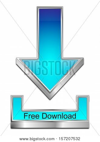 glossy blue Free Download Symbol - 3D illustration