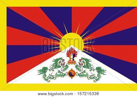 Flag of Tibet Autonomous Region (TAR) or Xizang Autonomous Region called Tibet or Xizang for short is a province-level autonomous region of the People's Republic of China (PRC).