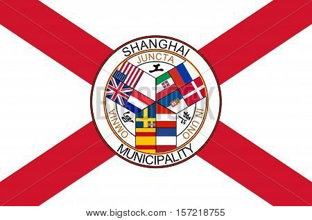 Flag of Shanghai is the most populous city in China