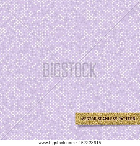 Vector Violet lilac seamless pattern. Pastel wallpaper minimal design. Abstract geometric iridescent background monochrome