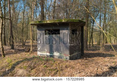 old concrete bunker on a former military airbase