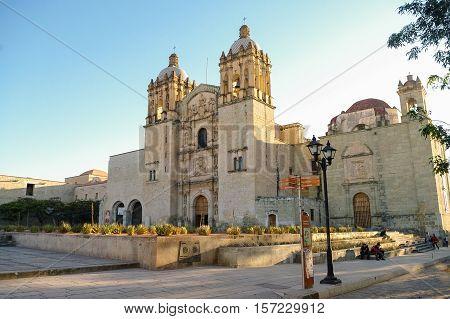 Oaxaca, Mexico - January 21, 2010: Church of Santo Domingo de Guzman