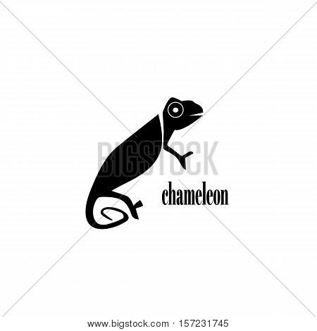 Chameleon logo. Design template for your company. Vector illustration.