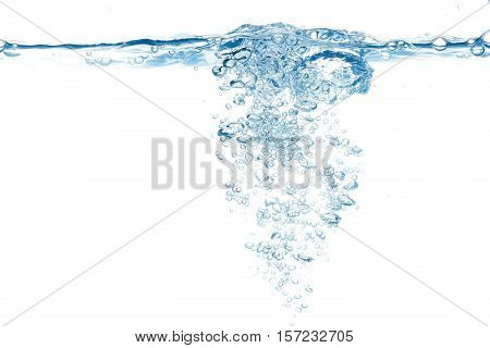 Water Surface With Bubbles Emerging In The Center