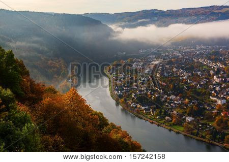 Aerial View At The Moselle, Germany