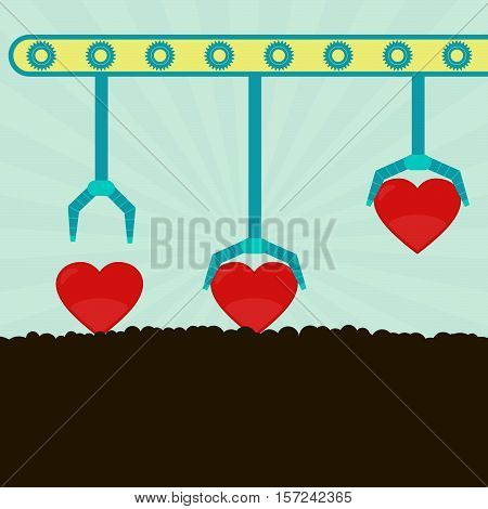 Machine, Gripper And Heart