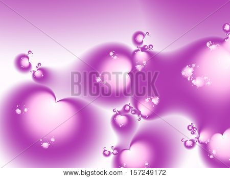Pink Valentine fractal with many smaller hearts in various sizes and position. Suitable for many creative Valentine or wedding designs or as a background for desktop or mobile phone, books, cards, presentations or websites.