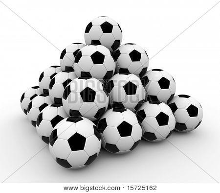 Soccer ball pyramid