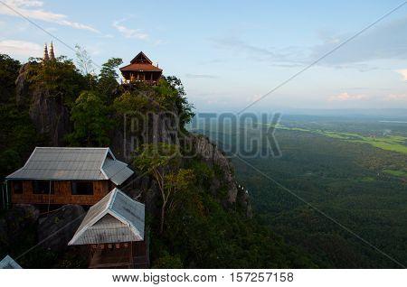 Unseen Wat Chaloem Prakiat on mountains at Lampang