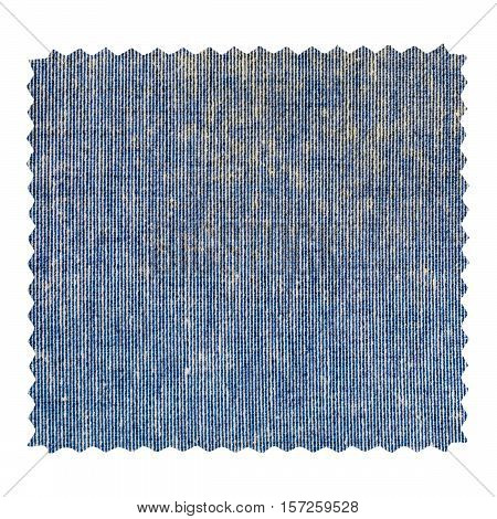 Blue Jeans Zigzag Fabric Sample