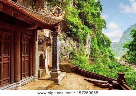 Scenic View Of The Bich Dong Pagoda, Ninh Binh, Vietnam