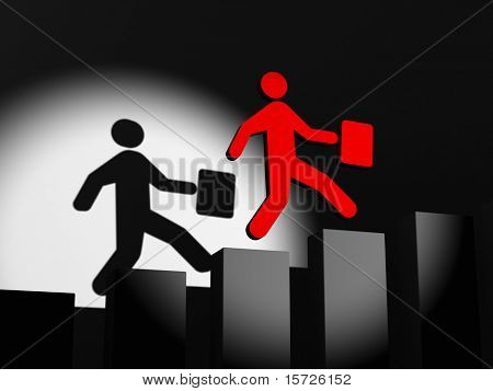 Running Businessman - Climbing The Corporate Ladder