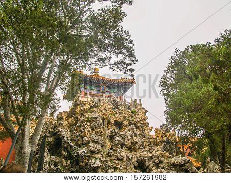 Beijing Forbidden city Empress part with a mountain
