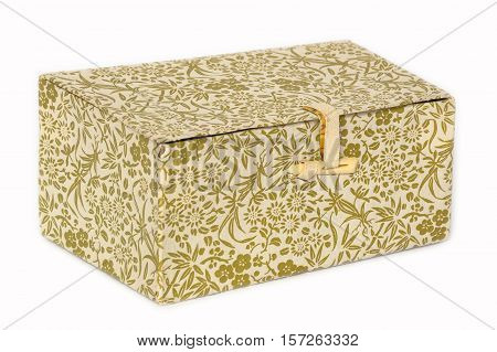 Box made of paper provided with decorative printing. Subject designed for storing small things.