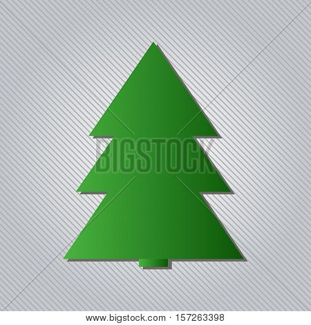 Christmas tree flat icon. Fir tree icon, modern minimal flat design style