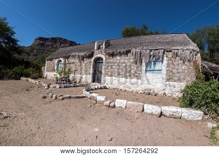 Baja California 17Th Century Old Stone Mission