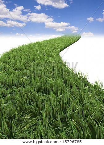 Green way  to sky