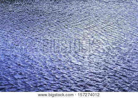 Closeup blue water wave for nature background