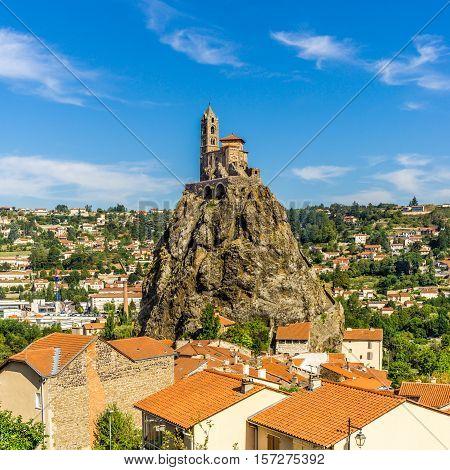 View at the church Saint Michel d Aiguilhe - Le Puy en Velay - France