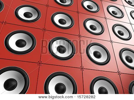 Wall of sound - Red