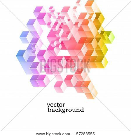 Abstract vector background with Colored blocks design Elements