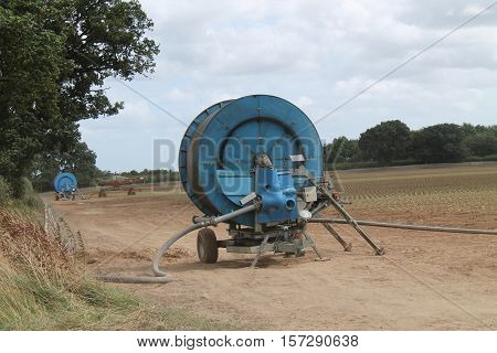 The Drums of an Agricultural Farm Crop Watering System.