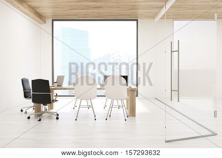 Board Room With Square Window