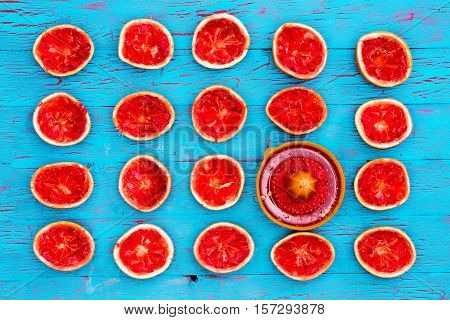 Freshly Squeezed Ruby Grapefruit Halves