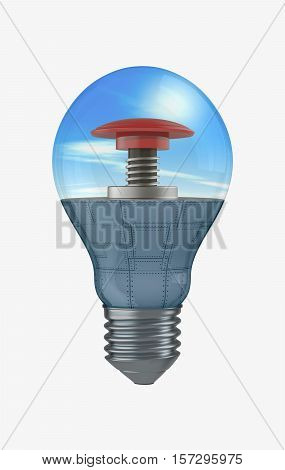 Light Bulb With A Button