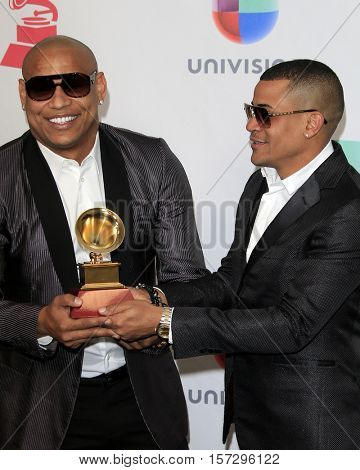 LAS VEGAS - NOV 17:  Gente De Zona, Randy Malcolm Martinez, Alexander Delgado at the 17th Annual Latin Grammy Awards Press Room at T-Mobile Arena on November 17, 2016 in Las Vegas, NV