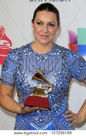 LAS VEGAS - NOV 17:  Nina Pasto at the 17th Annual Latin Grammy Awards Press Room at T-Mobile Arena on November 17, 2016 in Las Vegas, NV