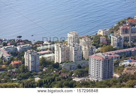 City Foros. View from above. Republic of Crimea