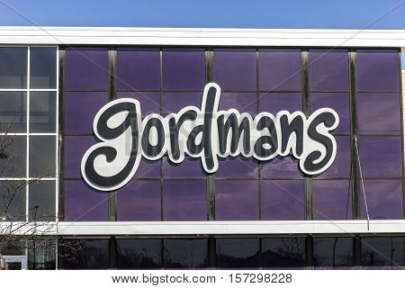 Indianapolis - Circa November 2016: Gordmans Retail Strip Mall Location. Gordmans is a chain of department stores listed on the NASDAQ as GMAN I