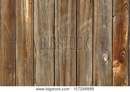Vertical Barn Wooden Wall Planking Texture. Horizontal Brown Wood Background