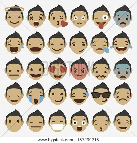 Emoticon emoji set. Emoticon emoji icon. Emoticon emoji design. Emoticon emoji flat. Emoticon emoji art