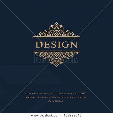 Line graphics monogram. Elegant art logo design. Emblem. Graceful template. Business sign identity for Restaurant Royalty Boutique Cafe Hotel Heraldic Jewelry Fashion. Vector elements